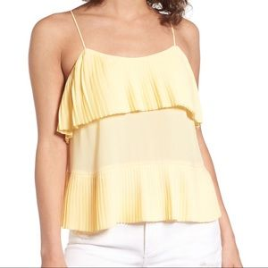 Leith Yellow Accordion Camisole
